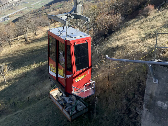 Upgrading the Raron – Eischoll cable car